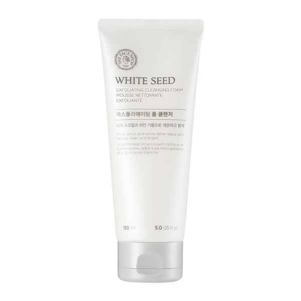 Sữa-Rửa-Mặt-TheFaceShop-White-Seed-Exfoliating-Cleansing-Foam